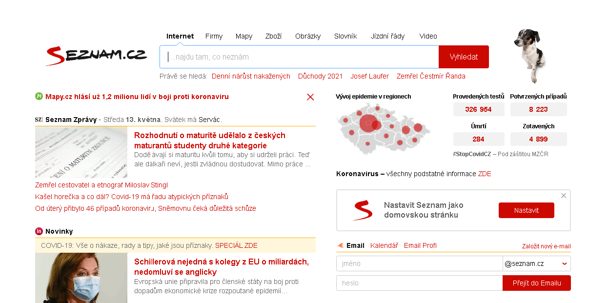 Чешский поисковик Seznam