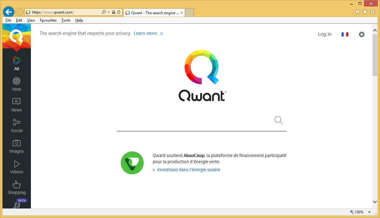 Французский поисковик Qwant